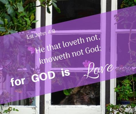 1st John 4_8He that loveth not, knoweth not God;