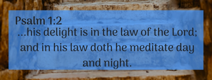 his delight is in the law of the Lord; and in his law doth he meditate day and night