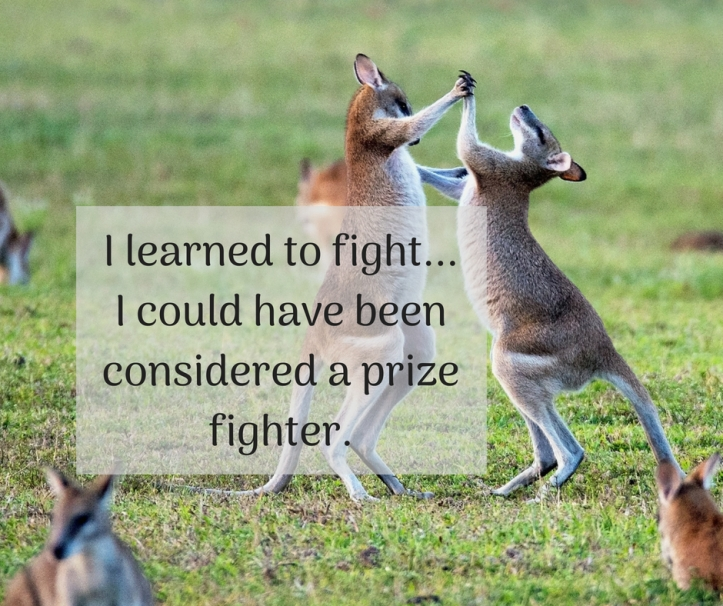 I learned to fight