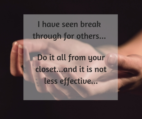 I have seen break through for others,...