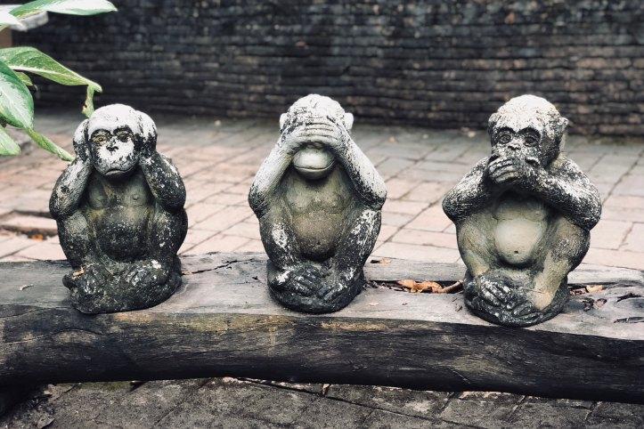 Three Monkeys Statues