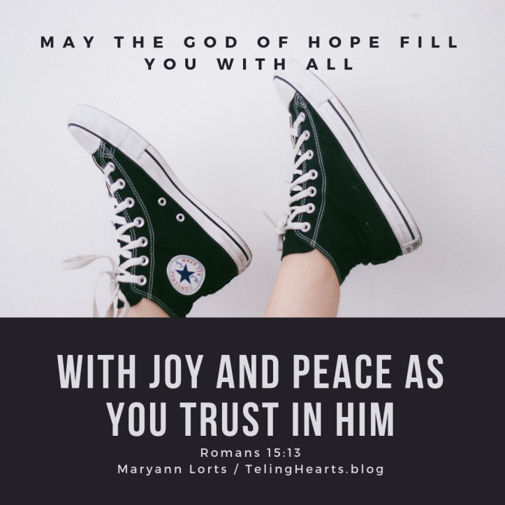 may the god of hope fill you with all